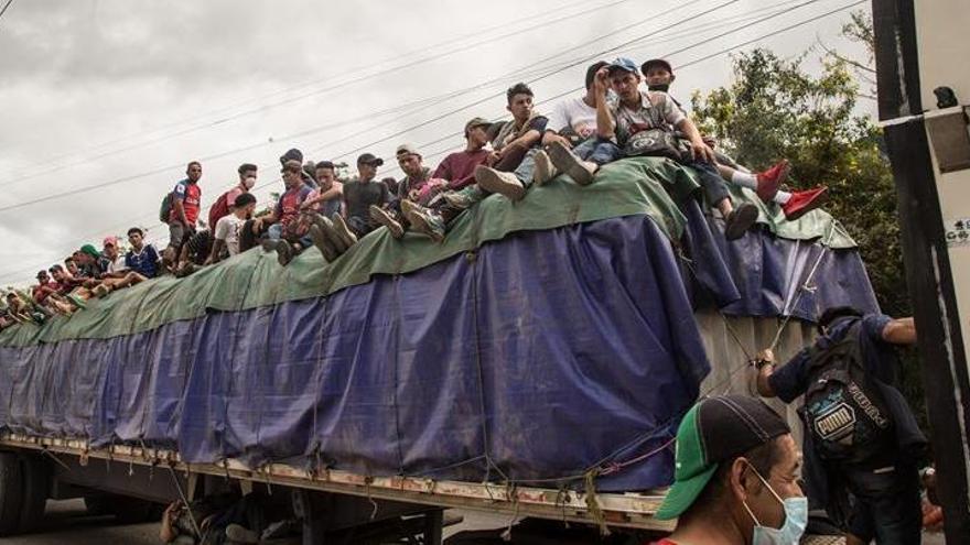 Detenida en Guatemala una caravana con 9.000 migrantes procedente de Honduras