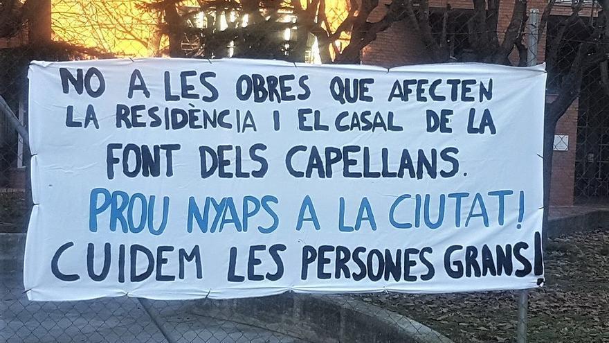Manifestació d'oposició a l'afectació al geriàtric de la Font dels Capellans
