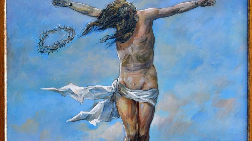 """El pintor Lope Tablada regala al convento de Santa Sofía de Toro """"El Cristo del viento"""""""