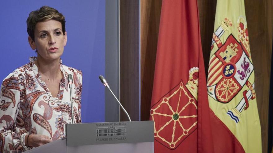 Chivite anuncia el confinament perimetral de Navarra