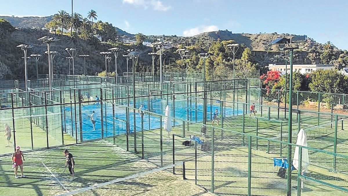 Vista general de las pistas del Club La Calzada donde se desarrollará desde hoy el FIP Star Gran Canaria.