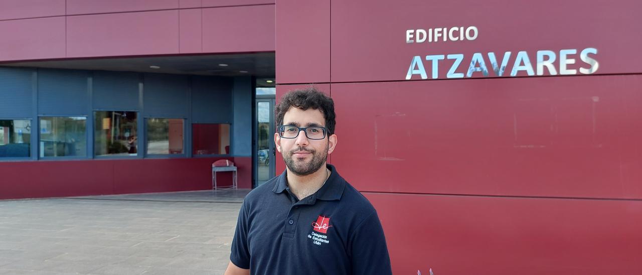 El nuevo delegado de Estudiantes de la UMH de Elche, Miguel Ángel García.