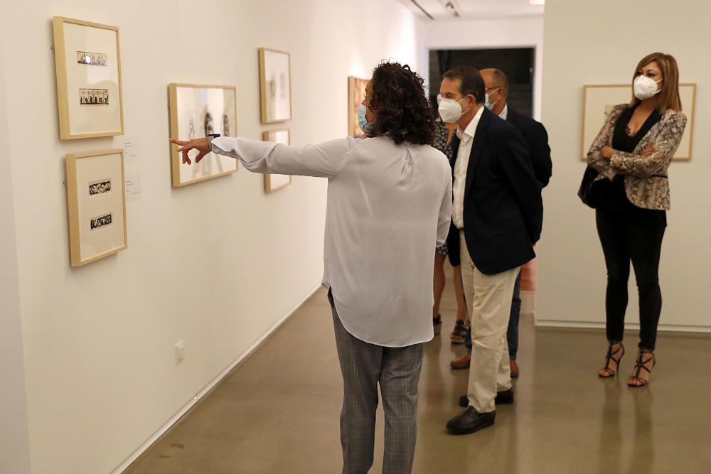 Algunas de las obras que se pudieron ver durante la inauguración de la muestra. // José Lores