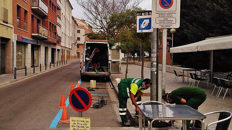 Igualada introdueix canvis en una dotzena de places de la zona blava