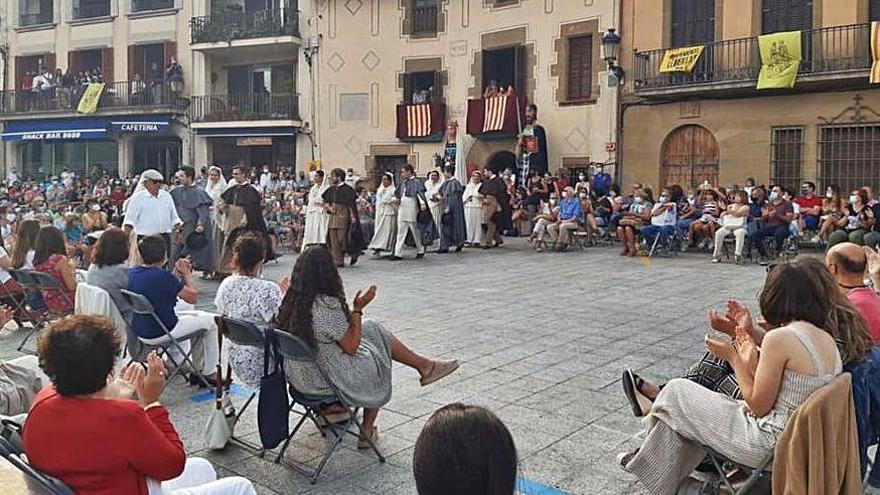 Les danses tradicionals tornen a la Festa Major de Castellterçol, que s'acosta al final