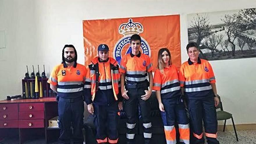 Algunos de los miembros de la actual agrupación de Protección Civil en Toro.