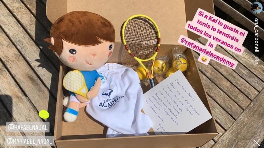 Rafa Nadal y su hermana Maribel le hacen un regalo al bebé de Ona Carbonell