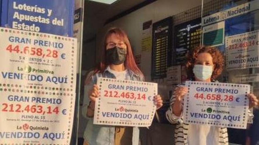 La Quiniela y La Primitiva dejan más de 250.000 euros en Salvaterra