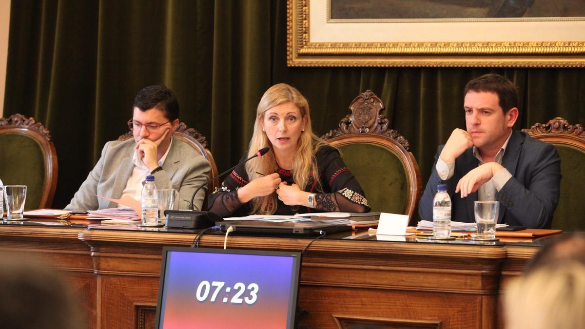 Imagen de archivo de un pleno presencial presidido por la alcaldesa de Castelló.