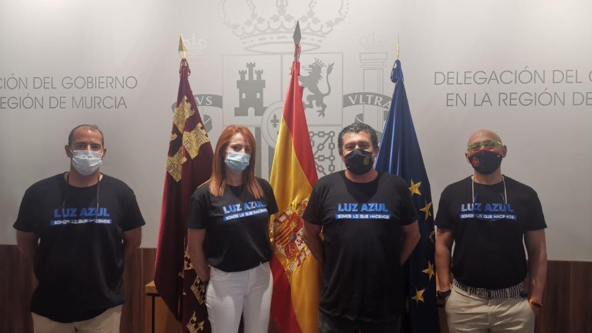 La delegación del Gobierno ha conocido la labor del Luz Azul