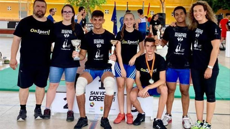 Los halteras de Alzira suman cuatro oros en el torneo valenciano sub-17