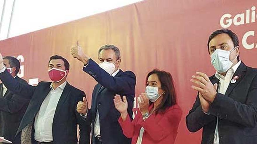"""Zapatero pide movilizarse como en el Nunca Máis ante las """"elecciones más importantes"""""""