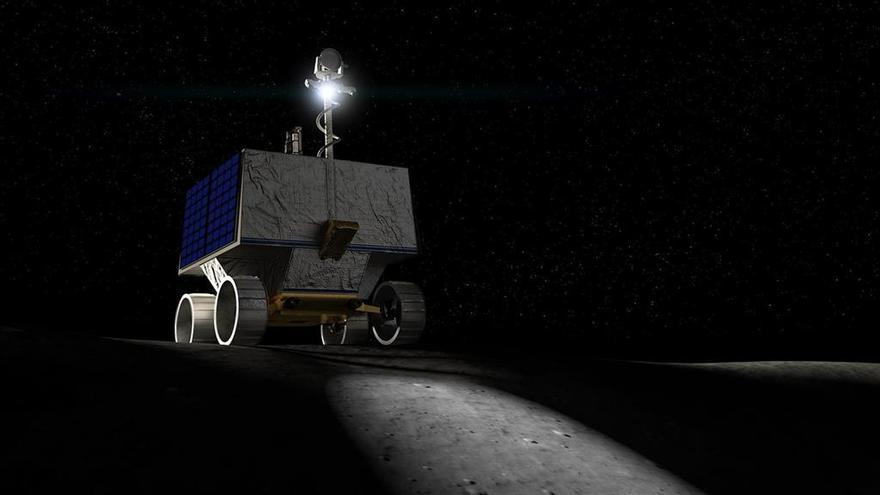 La NASA usará un robot móvil equipado con faros para buscar agua en cráteres lunares