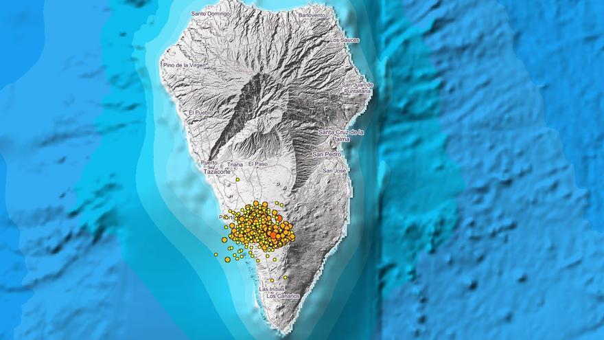 Disminuyen los sismos en La Palma en la madrugada de este jueves