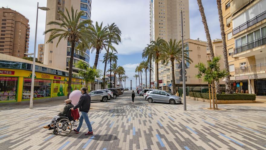 La avenida Bilbao se renueva con el mismo diseño de la avenida Mediterráneo de Benidorm
