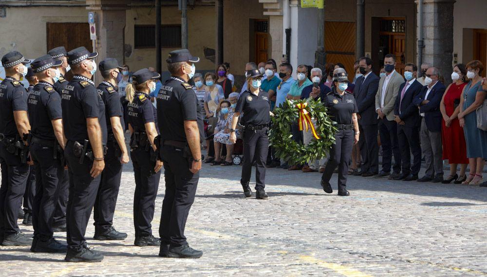Acto institucional de la Policía Local en Sagunt.
