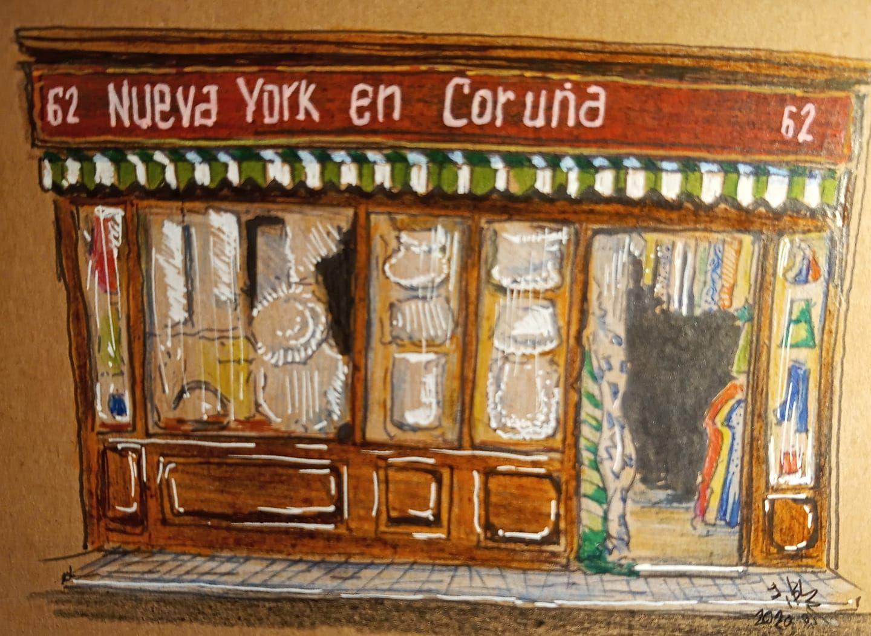 El ilustrador Jorge Blanco dibuja los comercios emblemáticos que han ido desapareciendo