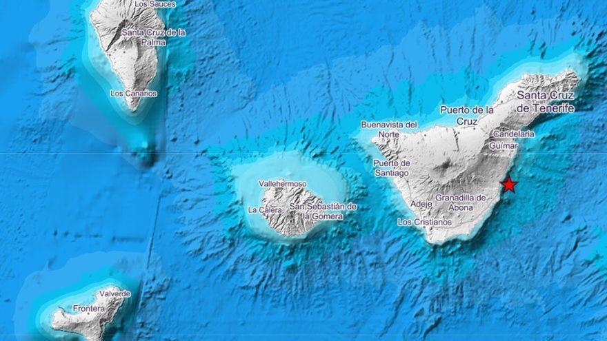 Terremoto de magnitud 3.2 frente a la costa de Tenerife
