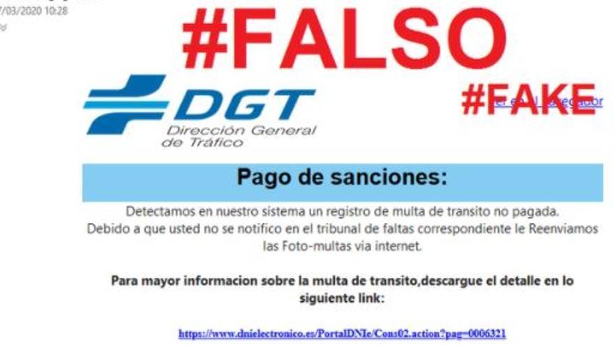 ¡Cuidado! las multas de la DGT no se notifican por mail