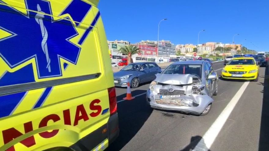 Accidente de tráfico en la TF-5