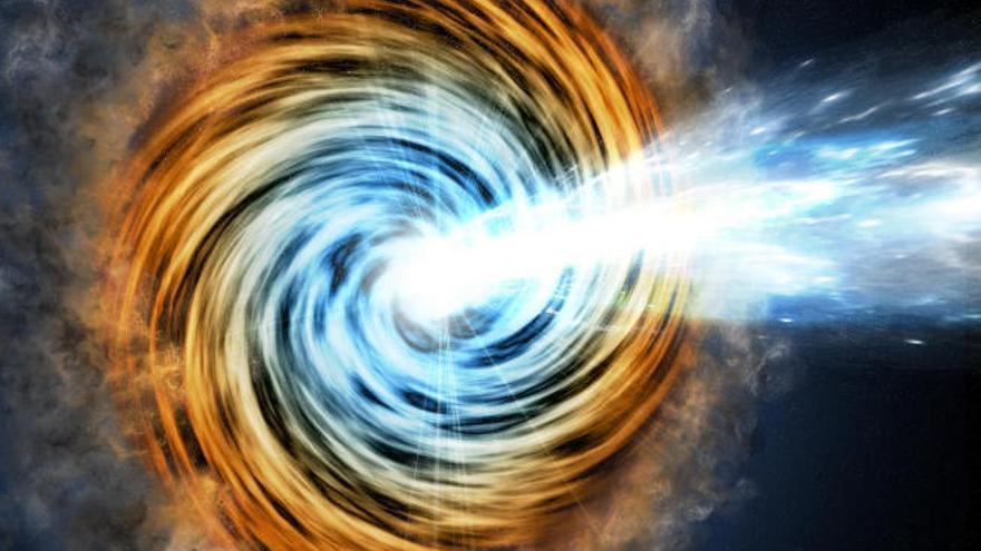 Identifican una rara clase de galaxias, que emiten rayos gamma