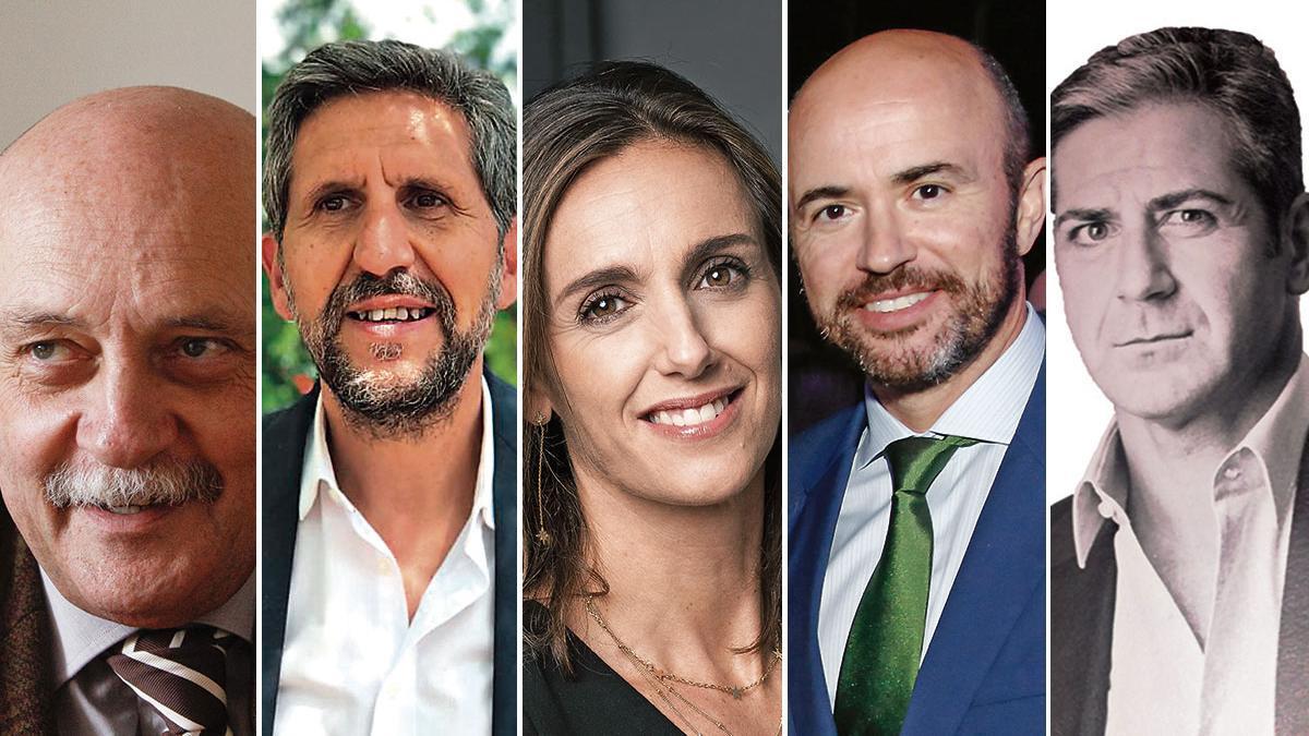 Ángel Fernández, Sebastià Alemany, I. López-Rivadulla, Rafael Guinea y Fausto Oviedo
