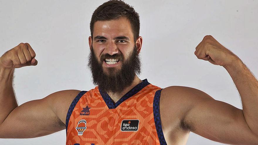 Bojan Dubljevic, pívot del Valencia Basket.  vlc basket
