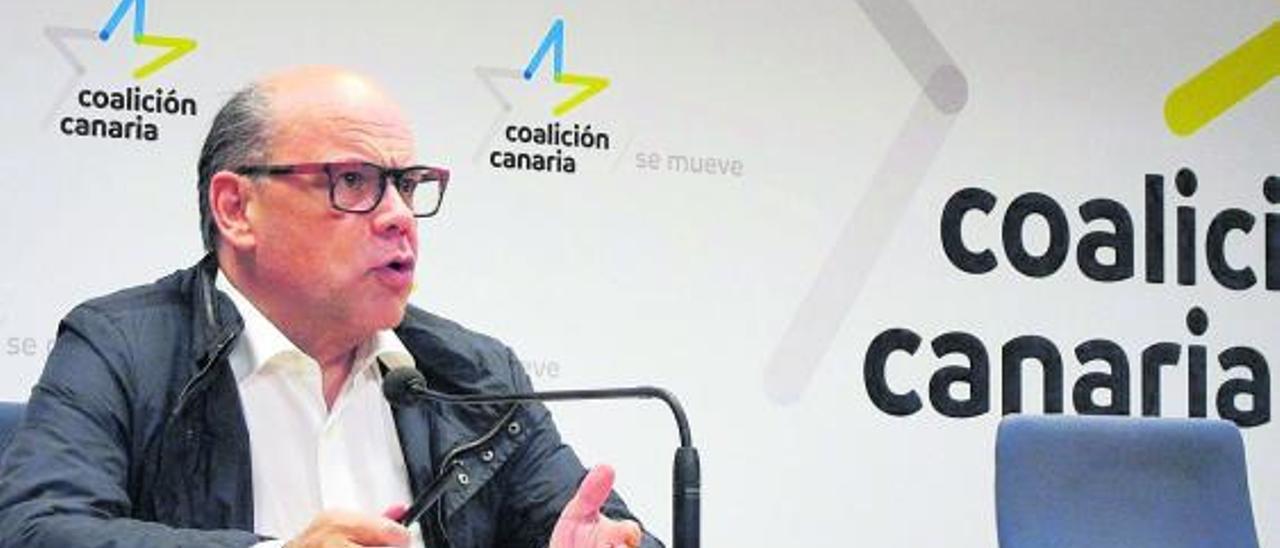 José Miguel Barragán, en la sede de Coalición Canaria en Las Palmas de Gran Canaria