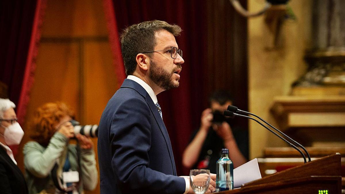 Aragonès va recordar als comuns que l'«aritmètica és la que és». | EUROPA PRESS