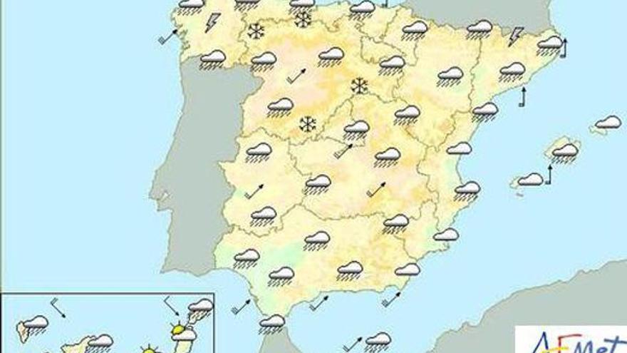 Alerta en quince provincias por lluvia y viento