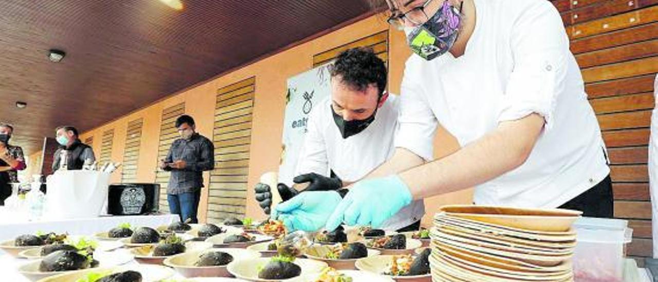 Una presentación de la iniciativa 'Eating in Ibiza' en las jornadas del calamar.