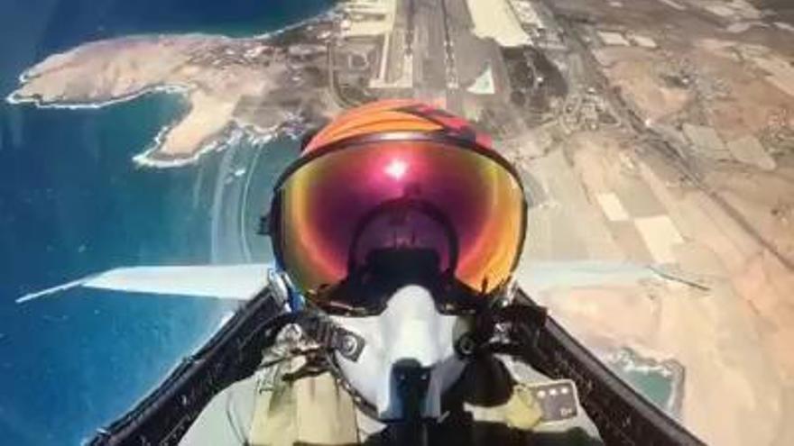 Así despega un F-18 de Gando