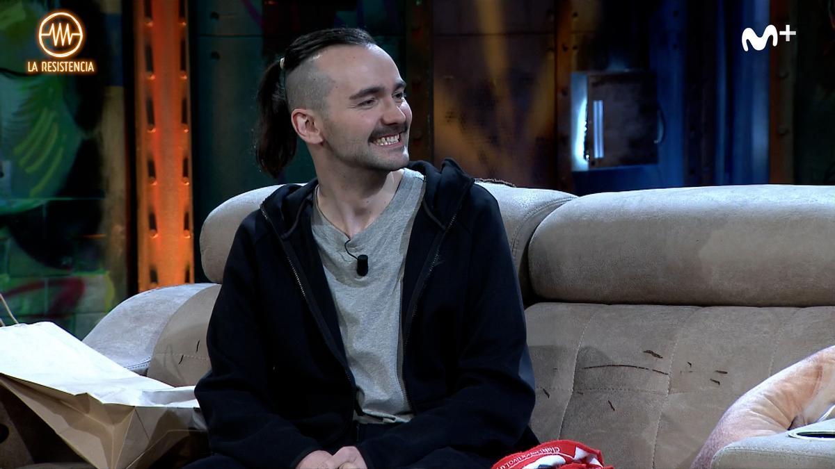 ElXokas, durante su entrevista con David Broncano