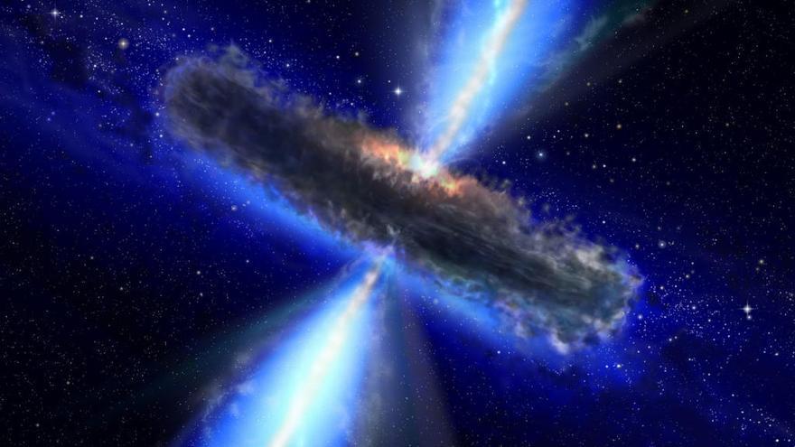 Revelada la morfología de una galaxia oculta por su brillante núcleo