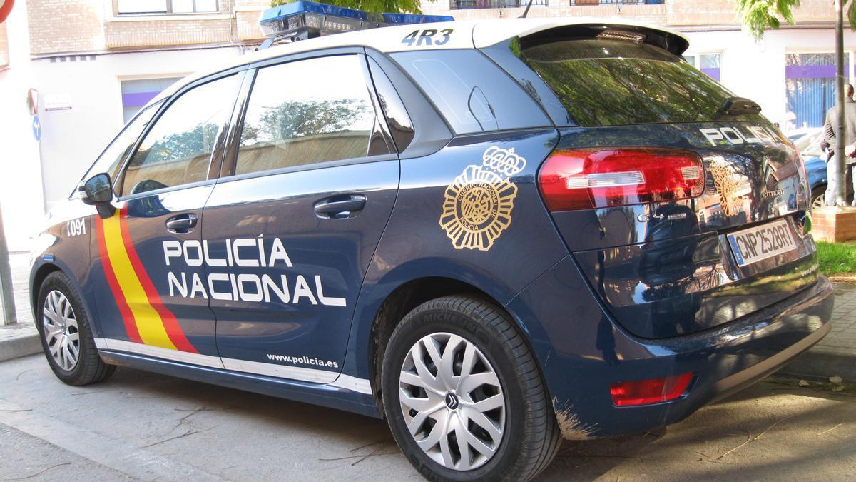 Coche de la Policia Nacional.