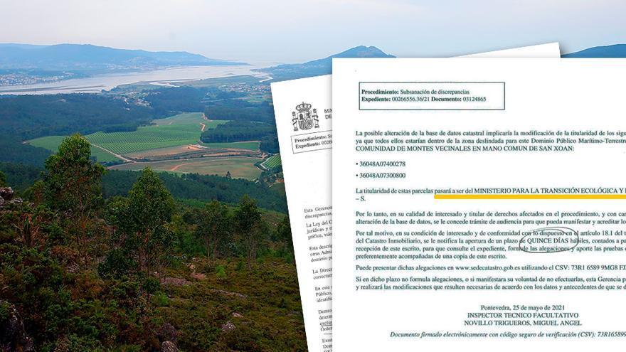 La Xunta pone deberes al Estado si se queda con montes en la costa