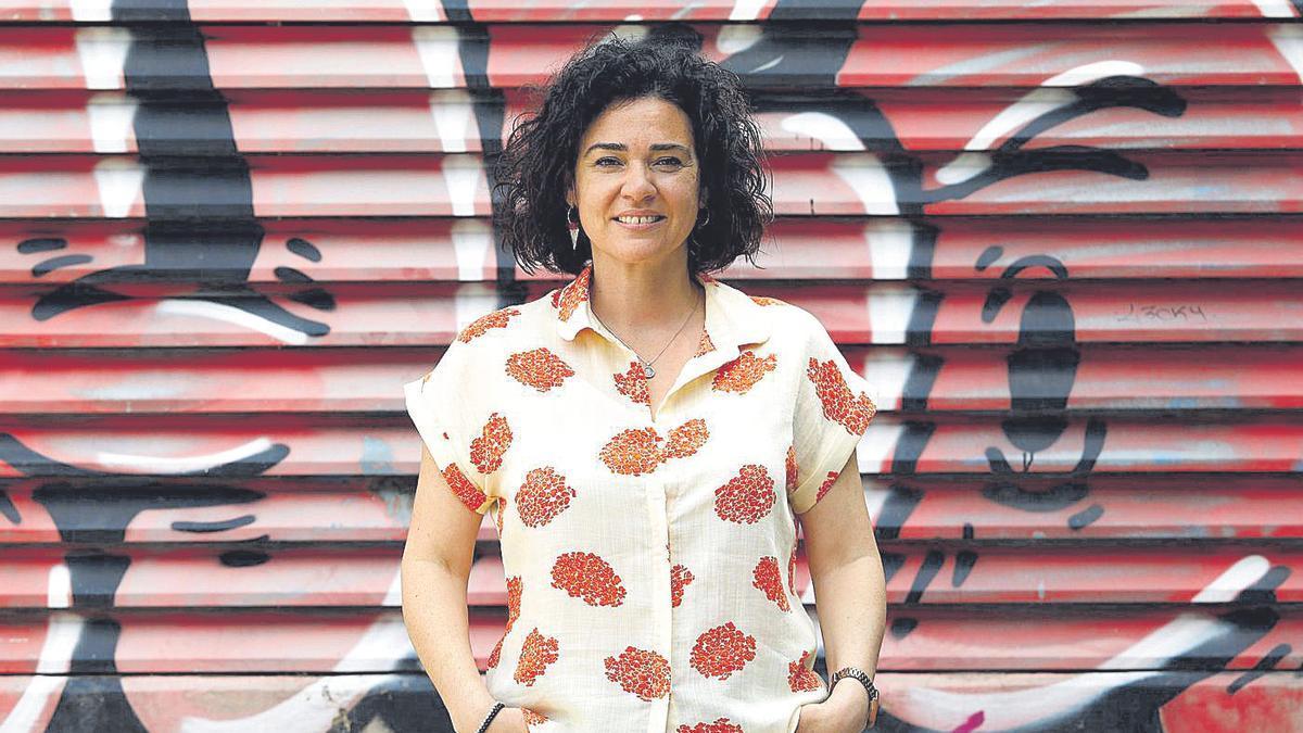 La diputada oscense Erika Sanz, este viernes, tras realizar la entrevista en EL PERIÓDICO.