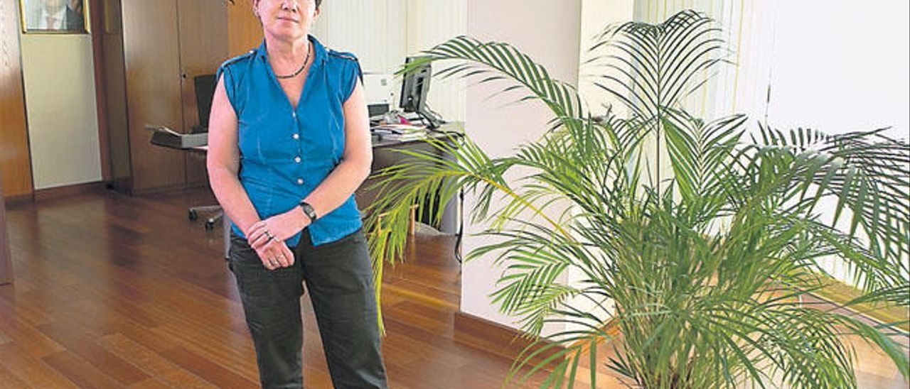La nueva cónsul de Alemania en Las Palmas, Judith Elisa Metz, en su despacho.