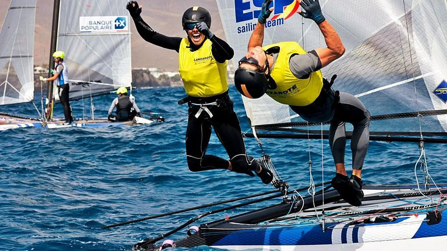 Tara Pacheco y Florian Trittel se bañan en oro en Lanzarote