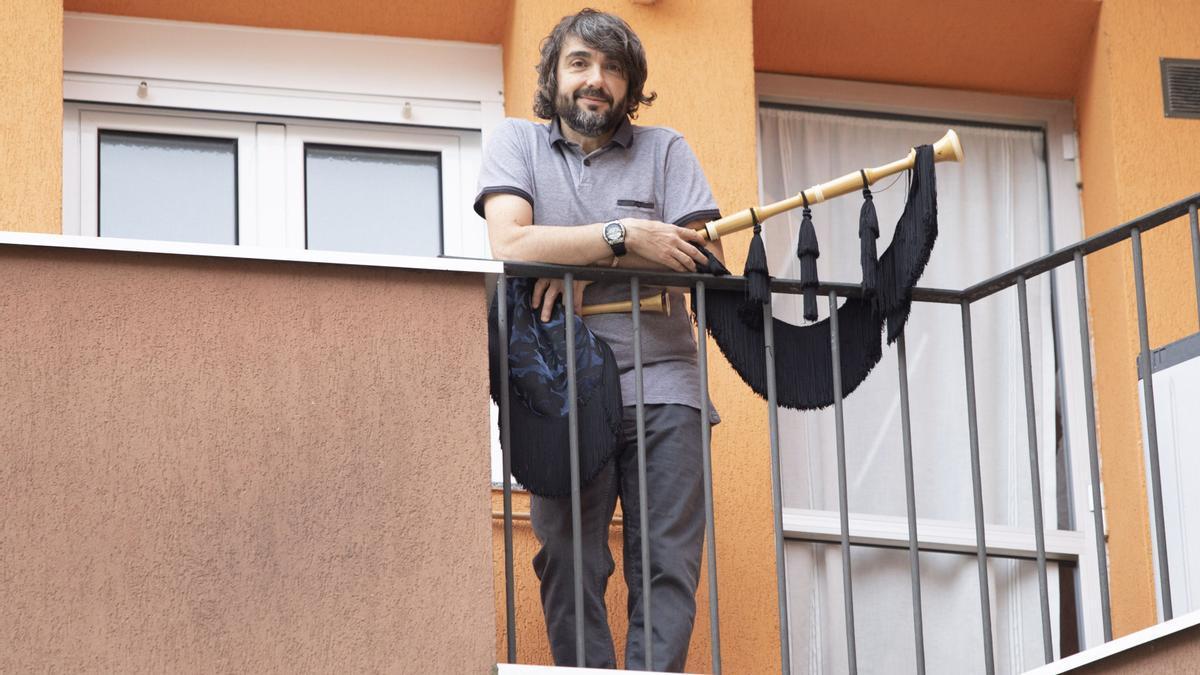 José Manuel Tejedor con su gaita