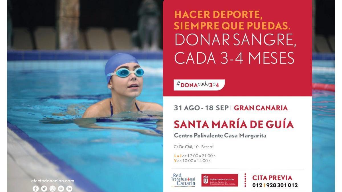 Del 31 de agosto al 18 de septiembre se podrá donar sangre en el Centro Polivalente Casa Margarita en Becerril de Guía