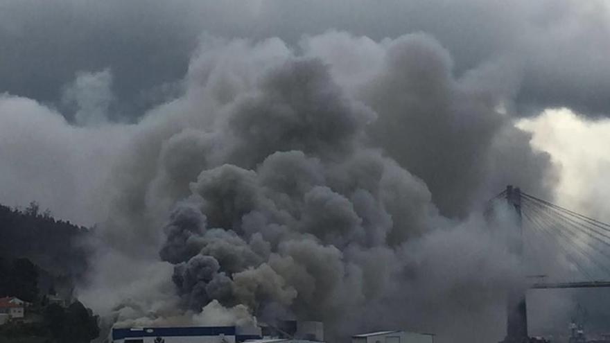 Incendio en Fandicosta en Moaña