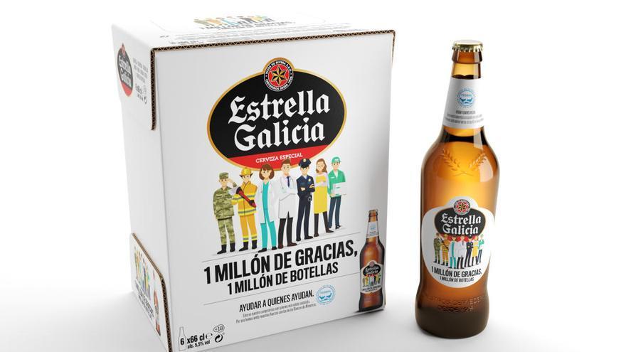 Estrella Galicia lanza '1 millón de gracias, 1 millón de botellas'