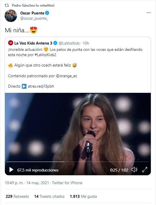 El RT de Pedro Sánchez a Óscar Puente