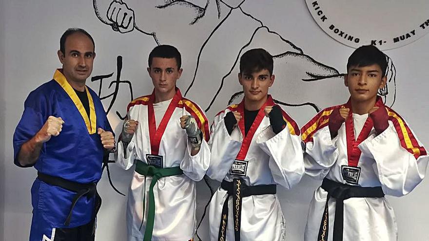 Cuatro lorquinos,  en el Mundial  de kick boxing