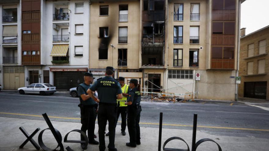 Un muerto y 13 heridos en una explosión de gas en Puente la Reina