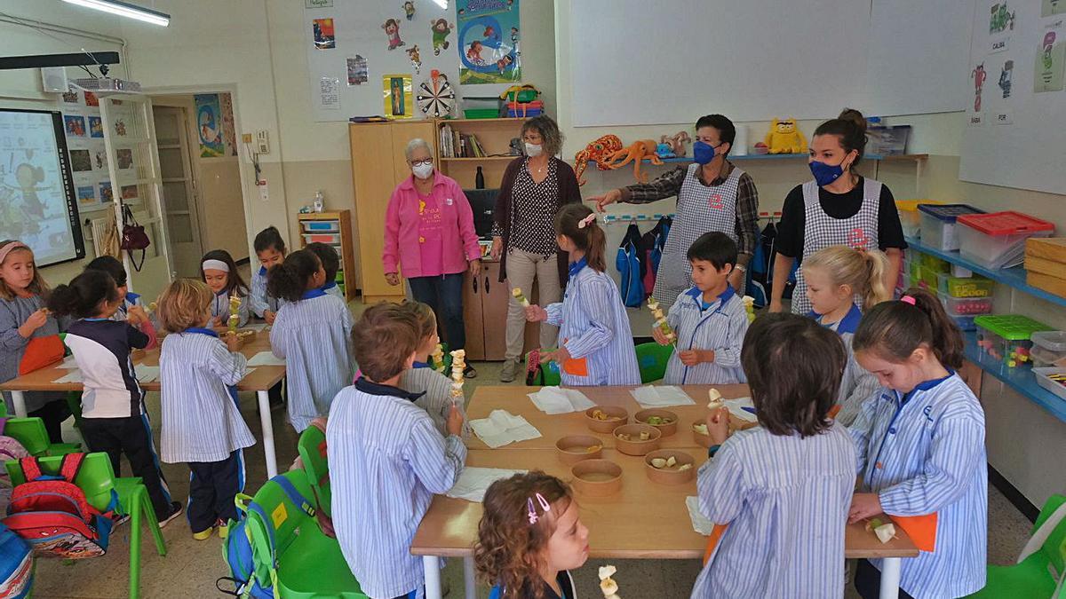 Els alumnes de P5 de Les Escolàpies de Figueres s'han sumat a la campanya