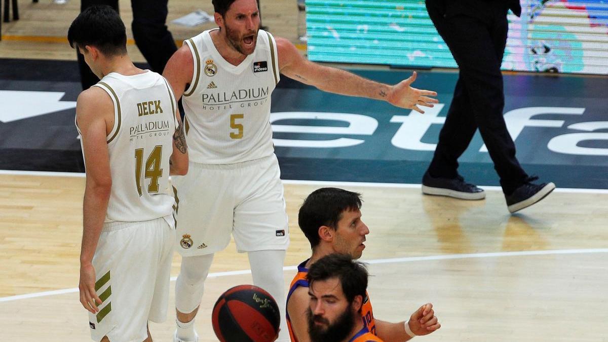 Rudy Fernández, en el partido de este lunes ante el Valencia.