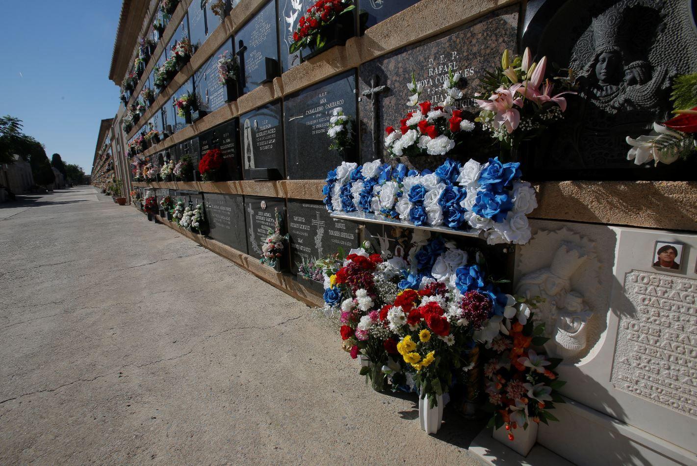 Todos los Santos sin gente en el cementerio de València