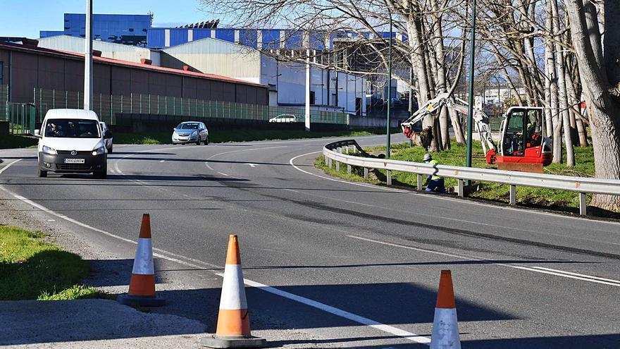 El tráfico estará cortado el fin de semana entre el enlace a Sabón y la avenida de la Moda